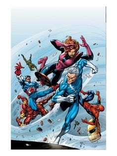 Marvel Adventures The Avengers #19 Cover: Quicksilver Premium Poster