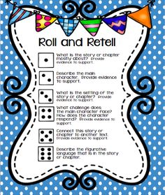 Worksheet Wednesday! Read, Roll and Retell Freebie