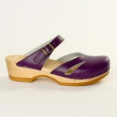 Side Slit Clog Purple, $105, now featured on Fab.