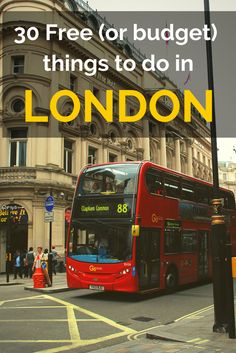 How to do London on a budget! 30 Free (or budget) things to do in London. I look forward to visiting London on a budget. Things To Do In London, Free Things To Do, Cheap Things, The Places Youll Go, Places To Go, Voyage Europe, European Vacation, Vacation Spots, England And Scotland
