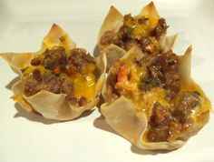 Italian sausage wonton appetizer, from How to Have It All.