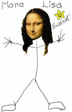 This one makes me giggle Mona Lisa Parody, Mona Lisa Smile, Collage, Italian Artist, Stick Figures, The Masterpiece, Outdoor Art, Famous Women, Caricature