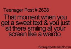 I do this very often. That part of smiling like a weirdo. ;3