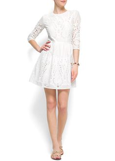 MANGO - CLOTHING - Broderie dress