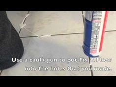 Fix a floor - How To Repair Loose Hollow Tiles