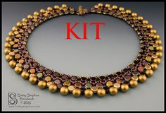 *P Honey Necklace Kit beadweaving wine by BettyStephanBeadwork