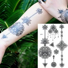 Beauty & Health Women Waterproof Sexy Life Of Tree Pattern Tattoo Body Painting Stencil Leg Arm Art Tool 1 Pcs Temporary Henna Stencil To Ensure Smooth Transmission