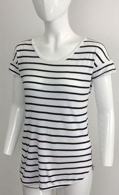 ee536d937da8b GapMaternity Short Sleeved Black and White Striped T-Shirt XS #fashion  #clothing #