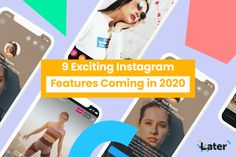 9 Exciting Instagram Features Coming in 2020 - Later Blog Instagram Life, Facebook Instagram, Marketing Tools, Digital Marketing, Social Media Channels, Influencer Marketing, Photo And Video, Blogging