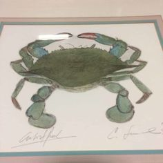 Hey Maryland - Blue Crab season opens 1 month from today!  Signed & numbered print: $95 Bushel of crabs? priceless :-)