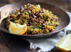 Jeweled Brown Rice with Orange Zest and Mint