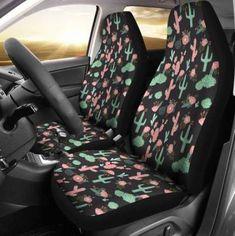 Fit Most Cars,SUv /& Truck/'s Black Hawaiian Hibiscus Mesh 7PC Set Car interior