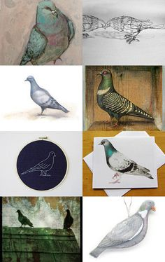 --Pinned with TreasuryPin.com///My Treasury List of wonderful pigeon art available at Etsy shops.  Enjoy!