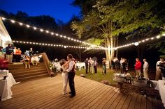 Deck/Patio dance floor – DIY Vintage Backyard Wedding