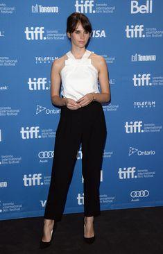 "Felicity Jones - ""The Invisible Woman"" Press Conference - 2013 Toronto International Film Festival"