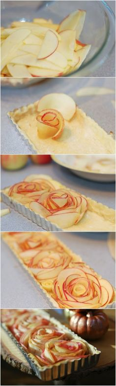 Rose Apple Tart- if I tried this it would not work though...