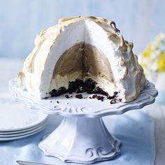 Delicious Italian baked Alaska bombe. Watch our recipe for this impressive centrepiece on the Waitrose website