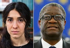 Denis Mukwege, Nadia Murad Win 2018 Nobel Peace Prize For Efforts To End Sexual Violence The Congolese doctor and Yazidi activist won for their work to eliminate the use of sexual violence as a weapon of war. Nobel Peace Prize, Nobel Prize, Global Conflict, Uplifting News, World Leaders, The Guardian, Human Rights, How To Memorize Things, Take That