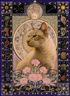 Отраженье ясных звезд в темной воде...(БГ) - Сказочные кошки Leslie Anne Ivory(Лесли Энн Ивори)