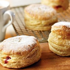 Pepperidge Farm® Puff Pastry - Recipe Detail - PB Doughnuts -- made with heaping tbsp of strawberry jam. YUM.