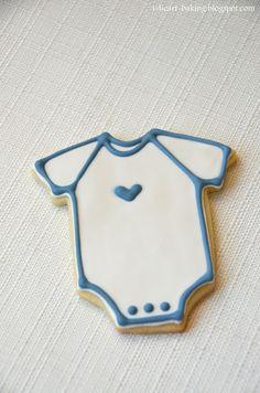 simple baby shower onesie cookies