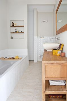J aime la simplicité de cette salle de bain