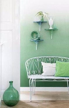 coole wand streichen ideen mit ombre streichtechnik für moderne ... - Moderne Wandgestaltung Wohnzimmer