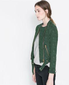 Jacquard moto jacket / Zara
