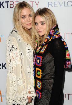 ashley is wearing my Afghan as a scarf? still love it.