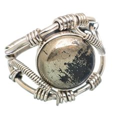 Pyrite In Magnetite (healer's Gold) 925 Sterling Silver Ring Size 10.75 RING780831