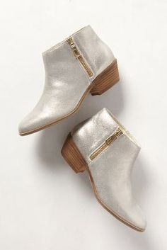 shimmery suede booties / anthropologie
