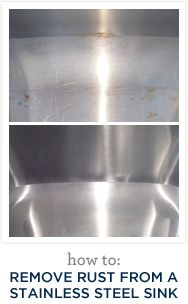 Remove rust from stainless steel sink House Cleaning Tips, Cleaning Hacks, Handy Tips, Helpful Hints, Kitchen Cleaners, How To Remove Rust, Practical Magic, Stainless Steel Sinks, Household Tips