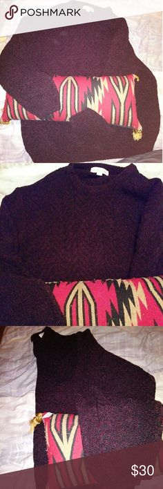 Pronto Uomo Dark Purple Large Sweater Like new Comfy Dark Purple Acrylic and Rayon Sweater. Nice unisex sweater. Large. Very good condition. Barely ever worn.  Share with Your other half. Really soft and tight woven for the cold windy nights of Winter. #Prontouomosweaterlarge Prontouomopurplesweater #ProntoUomoLargesweater Pronto Uomo Sweaters Crew & Scoop Necks