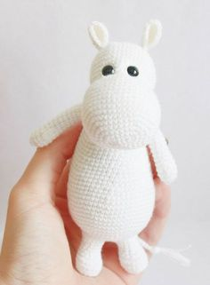 Moomintroll a Book and Cartoon Character from Moomin - Free Amigurumi Pattern