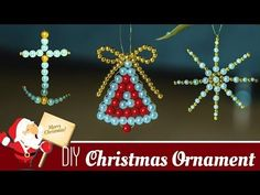 Hundreds of FREE EASY Christmas Decor, Christmas Craft, Christmas DIY Ideas in 1 website. We are sure you can find great ideas for upcoming Christmas. Diy Christmas Angel Ornaments, Handmade Christmas Decorations, Christmas Crafts, Christmas Tree, Christmas Bells, Beaded Crafts, Room Decorations, Christmas Projects, Bead Art