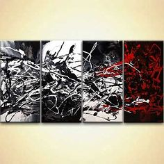 Black White Red Abstract Art, Extra Large Modern Abstract Painting, Textured Art on Canvas, Original Wall Art by Osnat - The Time Ships Texture Art, Texture Painting, Red Abstract Art, Abstract City, Concept Art Tutorial, Art Paintings For Sale, Beautiful Fantasy Art, Modern Art, Original Art