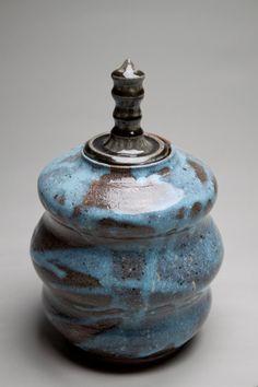 Lidded Jar with Ash Glaze by seanbill on Etsy, $59.95