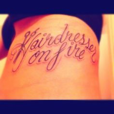 Here, we love hair! If you are a beauty artist send us a message for a free feature! Cosmetology Tattoos, Hairdresser Tattoos, Hairstylist Tattoos, Hairdresser Quotes, Piercing Tattoo, I Tattoo, Tattoo Quotes, Piercings, Love Tattoos