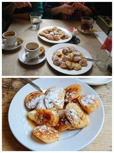 Poffertjes at Cafe de Prins | Eating Amsterdam Food Tour - Jordaan Food and Canals Tour. thehungrytravelerblog.com