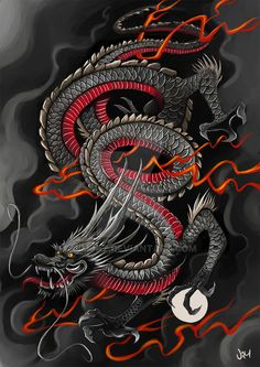 Japanese Dragon Speed Painting by jimjaz.deviantart.com on @DeviantArt