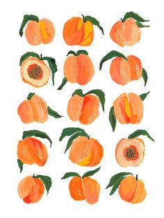 Orange Wallpaper, Wallpaper Iphone Cute, Kids Art Class, Art For Kids, Peach Paint, Western Landscape, Cute Canvas, Guache, Fruit Art