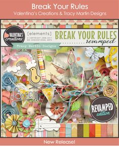 "Break Your Rules (revamped)-Valentina's Creations""Break Your Rules"" is a masterpiece collab between Valentina's Creations and Tracey Martin from 2013 production; It is a small gem full of love and dedication. To me, it's a treasure. Enjoy. #digitalscrapbooking #scrapbooking #memorymaking"