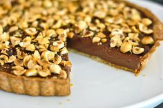 Chocolate hazelnut tart from the Red Spoon