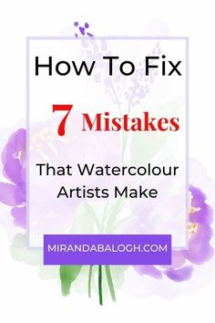 Are you a watercolour beginner or novice painter? If so, you might be making these common mistakes. In this article, you'll be given ideas and some simple step by step solutions make sure your painting practice or exercises are going well. You'll be painting beautifully in no time! #watercolourbeginner #watercolourbeginnerideas #watercolourpractice Watercolor Beginner, Step By Step Watercolor, Watercolor Lettering, Watercolour Tutorials, Brush Lettering, Letter Practice Sheets, Lettering Tutorial, Oil Painting Reproductions, Learn To Paint