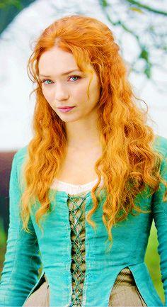 Oh captivating Demelza!  Sunset hair and eyes of summer, she enchants me. #Poldark #PoldarkPBS