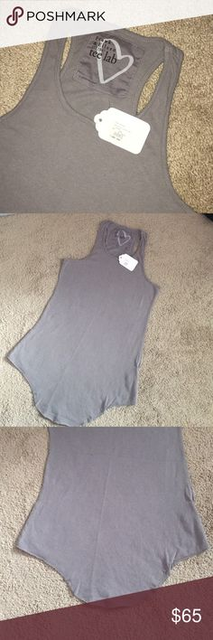Frank & Eileen tee lab tank tee lab racer layer tank. New with tags. Size XS is 14 inches pit to pit. 28.5 inches from top of the shoulder to bottom hem. Raw cut hem. Frank & Eileen tee lab Tops