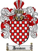 Coat of Arms & Family Crests Store- Jensen- Danish