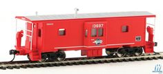 Walthers - International Bay Window Caboose - Ready to Run - Missouri Pacific #13697 (red, Eagle Buzz Saw Logo) - 910-8656