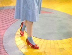 yellow brick road ruby slippers dorothy