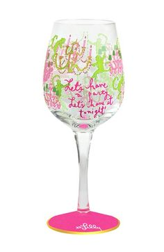 Lilly+Pulitzer®+Wine+Glass+available+at+#Nordstrom